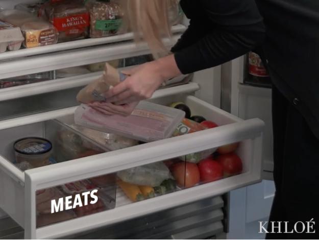 la carne en su refrigerador