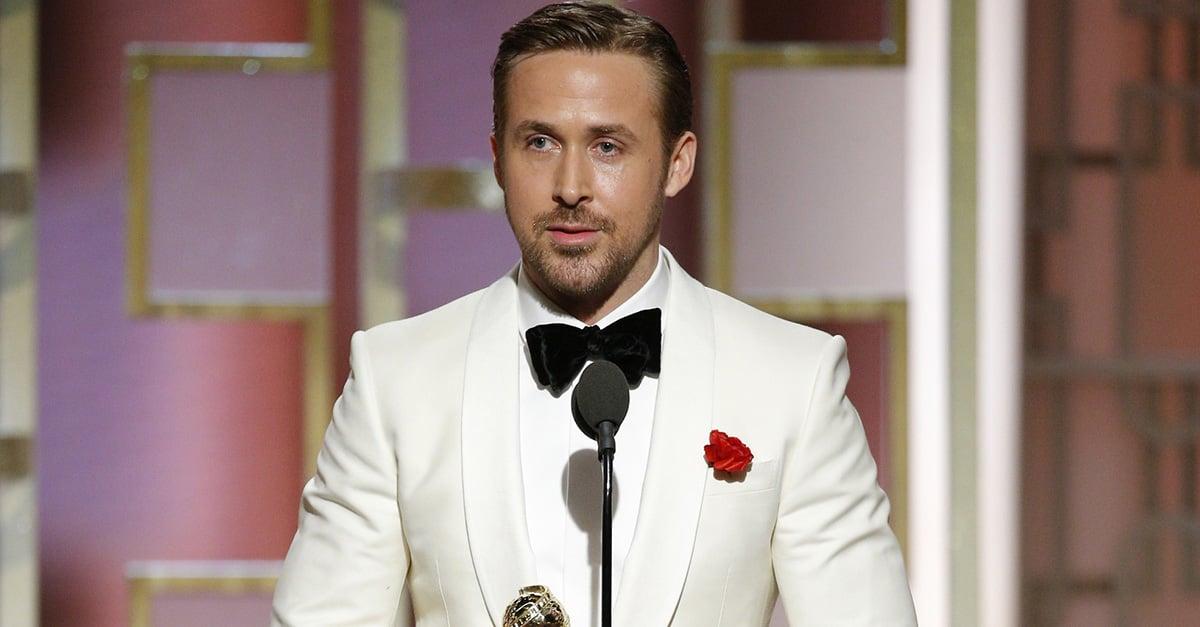La declaración de amor de Ryan Gosling en los Golden Globes, lo convierten en el hombre perfecto