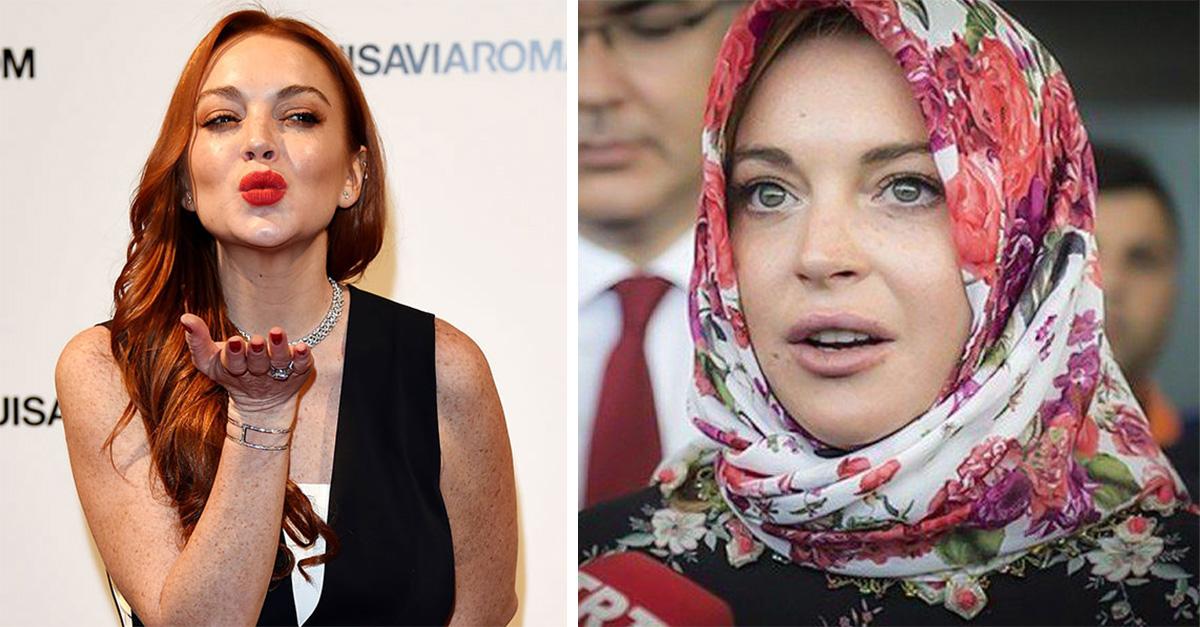 Lindsay Lohan encuentra la paz ¡y se convierte al Islam!
