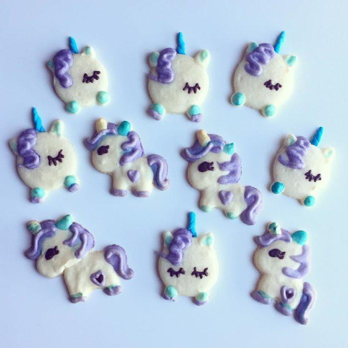 Galletas en forma de unicornio