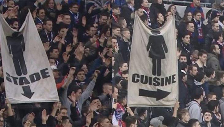 Mensajes machistas durante un juego de fútbol en Francia