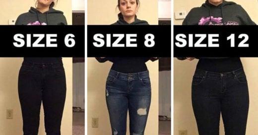 Esta chica explica con una imagen por qué la talla no importa