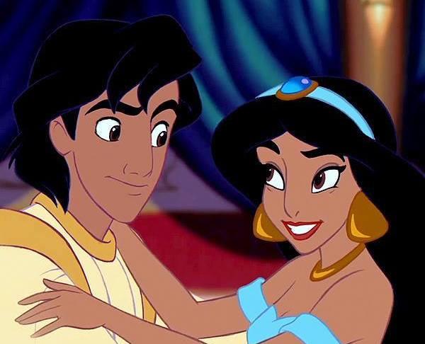 Aladin junto a jazmin