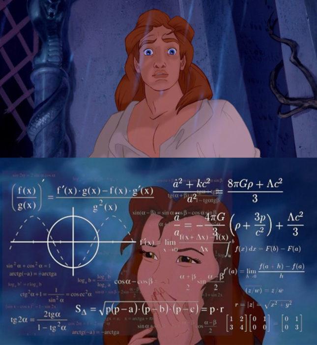 Bella resolviendo una ecuación