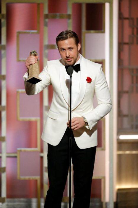 Ryan Gosling durante los Globos de Oro
