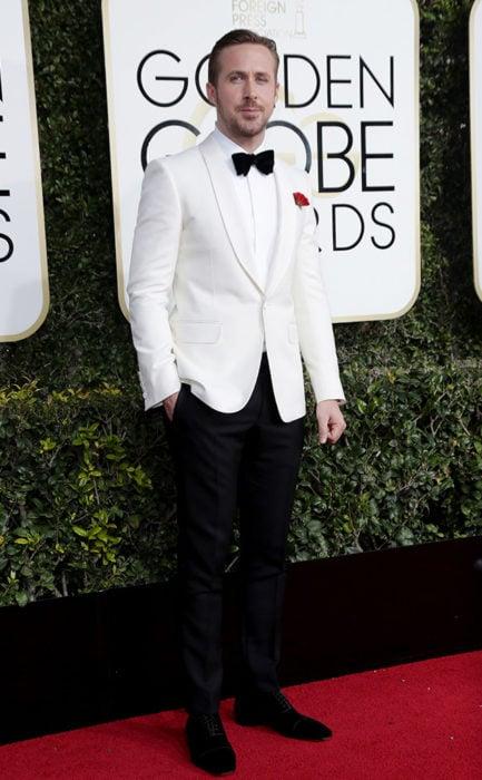 Ryan Gosling en la entrega de los Golden Globes