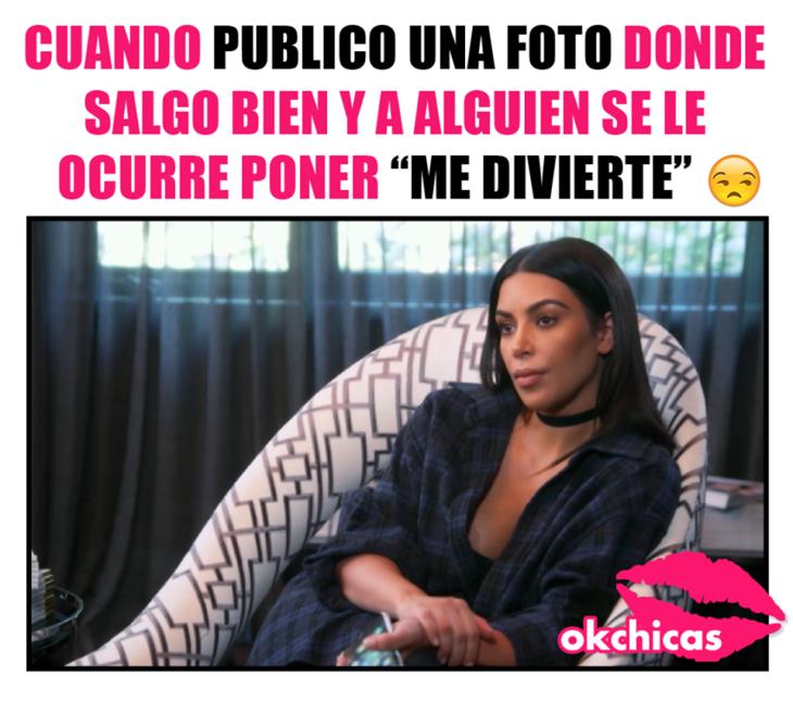 meme okchicas Kim Kardashian sentada y enojada