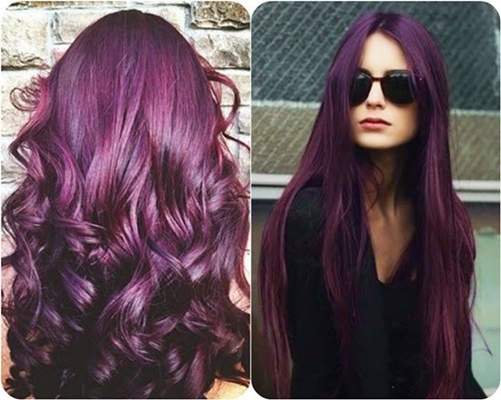 cabello color violeta