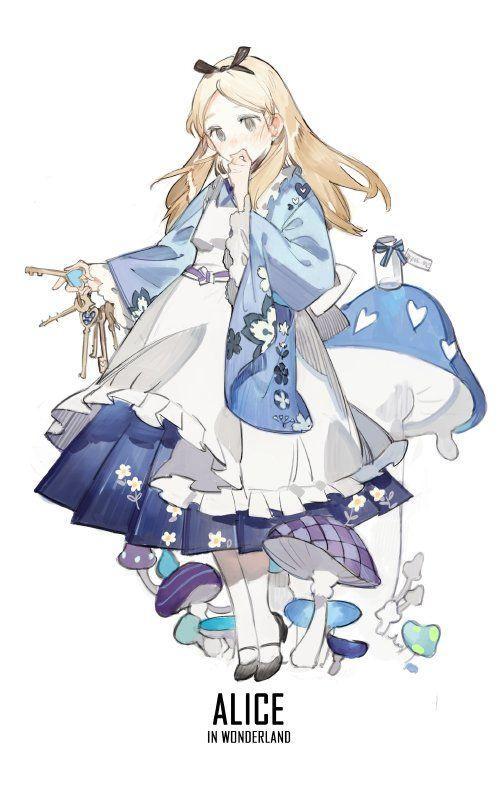 alicia disney anime kimono