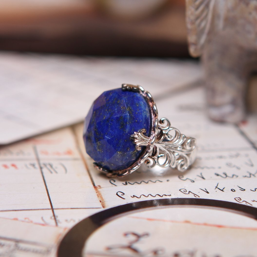 anillo de lapislázuli