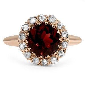anillo de rubí