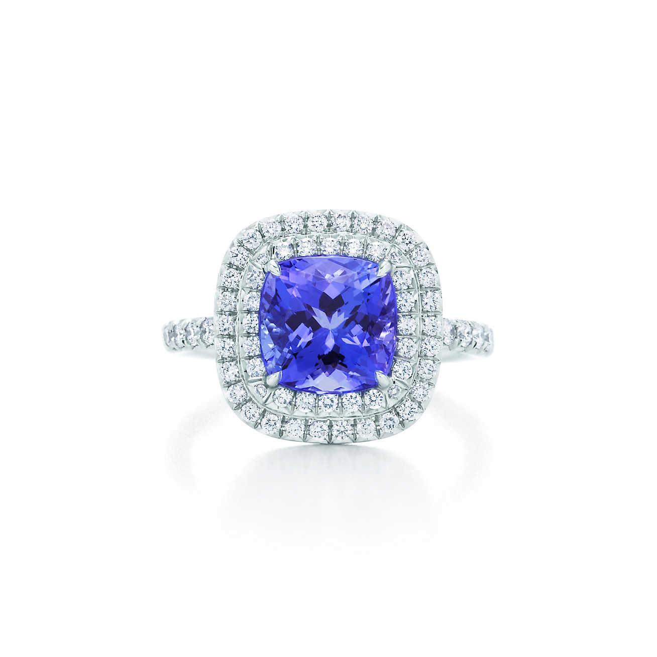 anillo de tanzanita