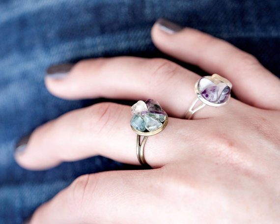 anillos de fluorita