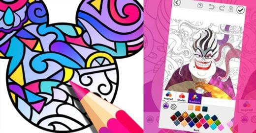 Disney lanza su propia app para que te llenes de color, ¡Está increíble!