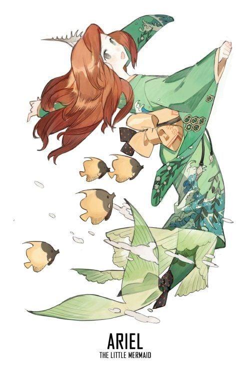 Ariel Disney kimono anime