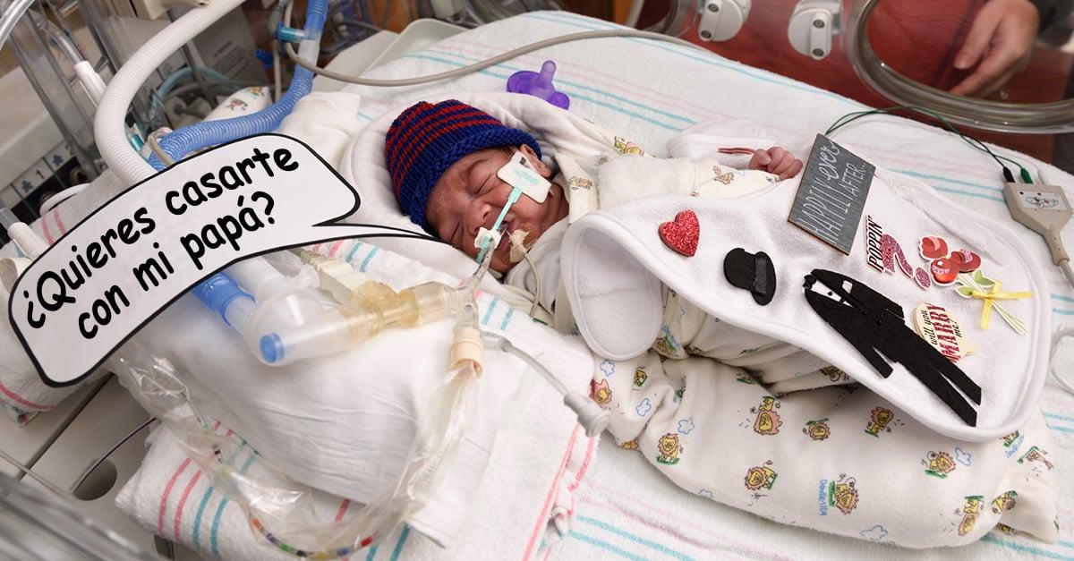 Este bebé prematuro ayudó a su papá a preparar la mejor propuesta de matrimonio