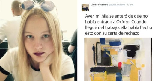 Esta chica convirtió su carta de rechazo en una obra de arte