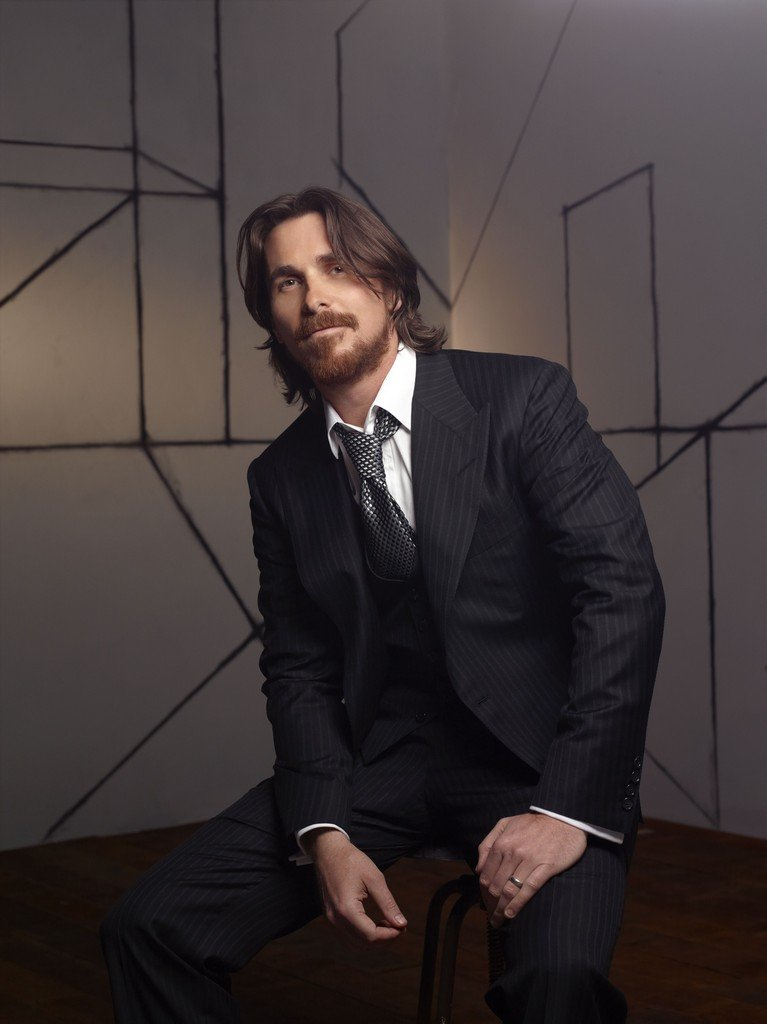 christian bale cabello largo