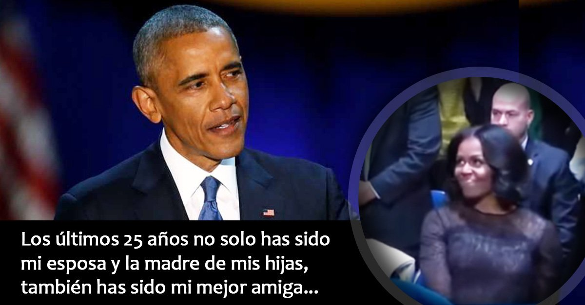 Barack Obama se despide de E.U.A. y agradece a su primera dama