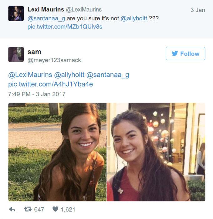 Chica que encontró a otras 7 identicas a ella