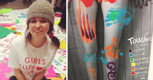 Estudiante de arte vuelve viral su conmovedora obra; creó un mapa del cuerpo humano después de un abuso sexual