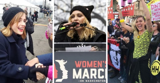 15 famosas defensoras de los derechos que acudieron al 'Womens March'