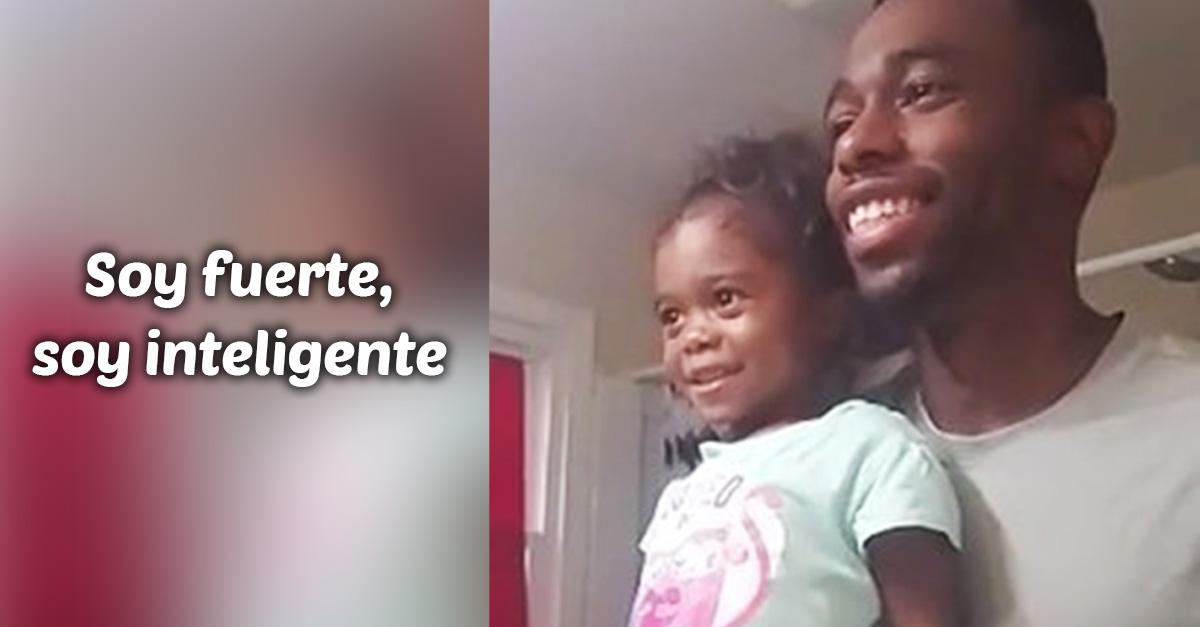 La forma en que este padre enseña a su hija a amarse está conmoviendo al mundo
