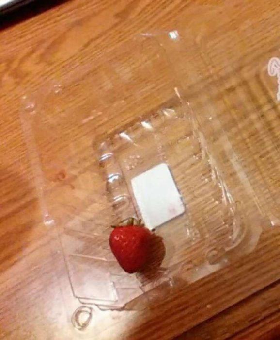 recipiente con una sola fresa