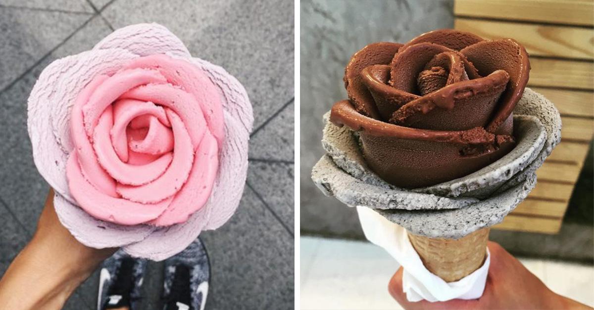 10 helados en forma de flor que no querrás comer
