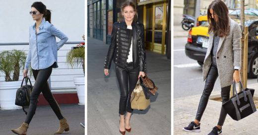 10 ideas para usar tus pantalones de cuero y lucir 'trendy'