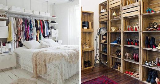 Ideas para armar y organizar roperos o espacios de guardado