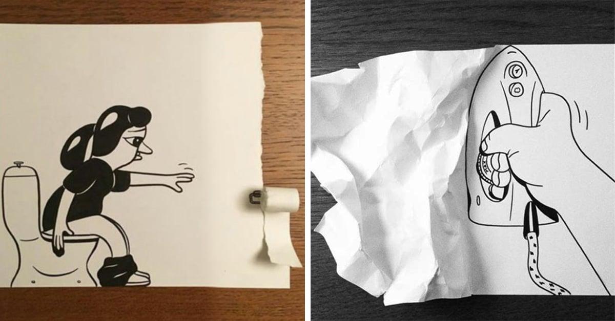 30 imágenes increíbles hechas con tinta y papel cortado
