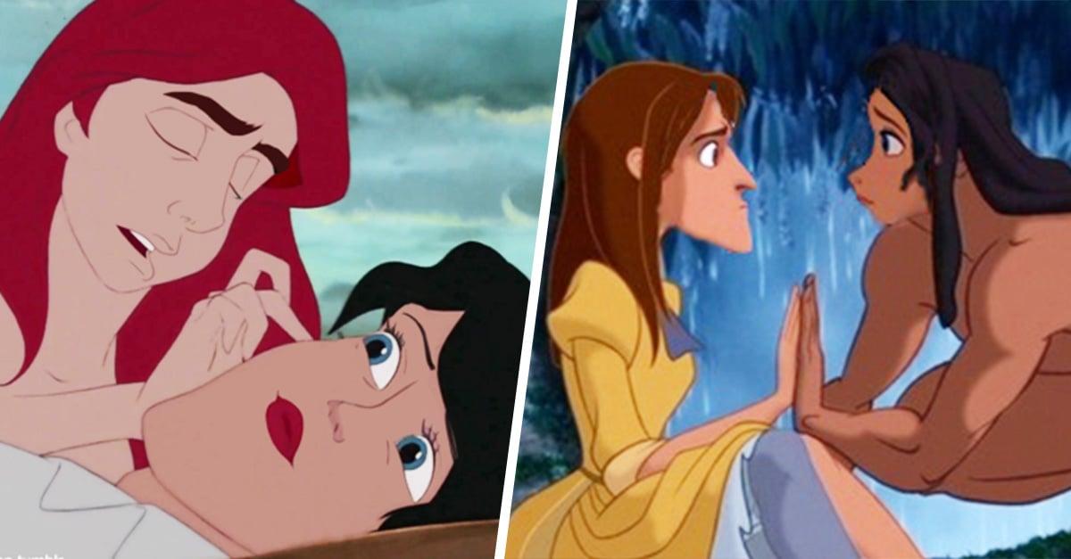 15 cambios de cara entre personajes de Disney que te harán morir de risa