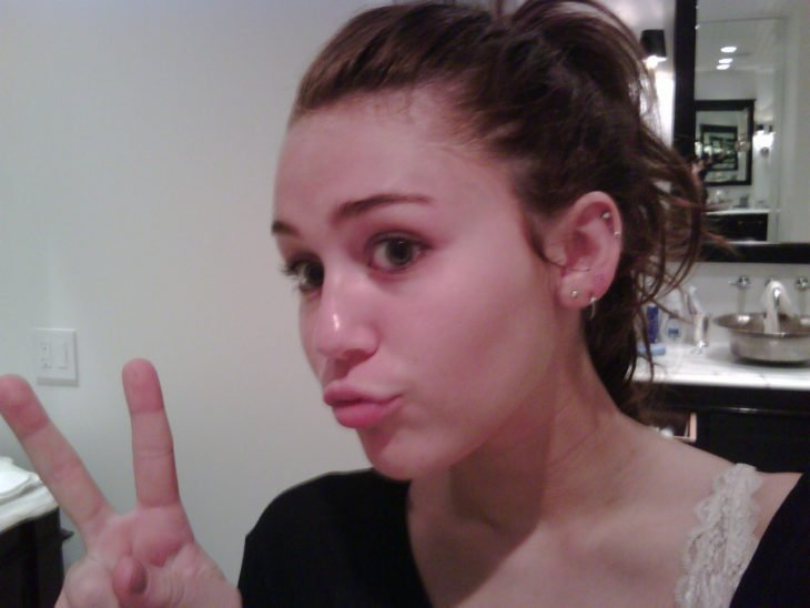 miley cyrus sin maquillaje