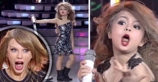 Niña de 7 años imita a Taylor Swift y es la sensación en internet