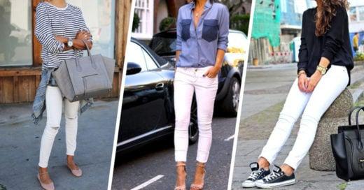 12 increíbles combinaciones para tus pantalones blancos