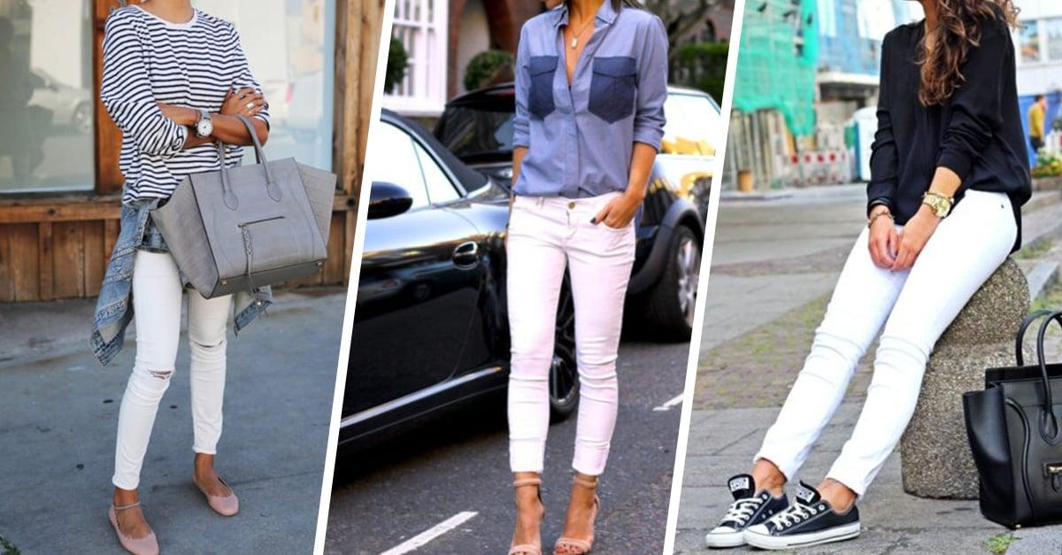 12 Outfits Para Que Uses Tus Pantalones Blancos Todo El Ano