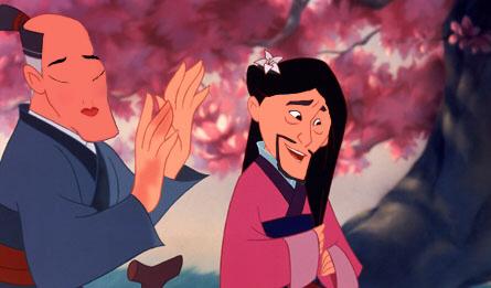 Mulan con su papá