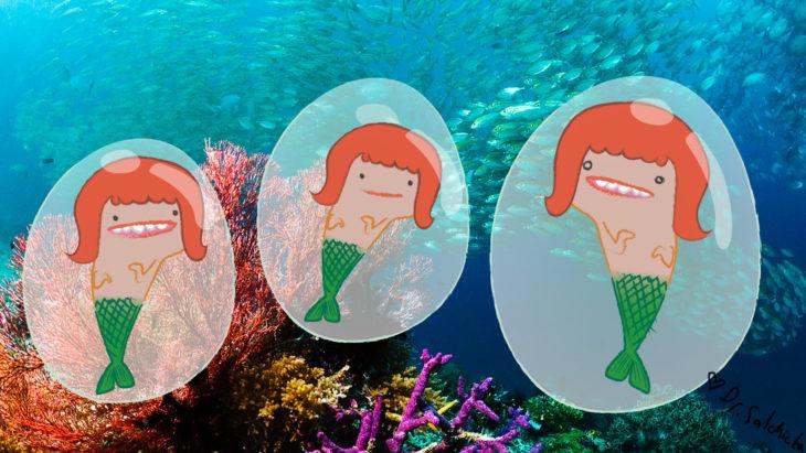 Sirenas dentro de un huevo