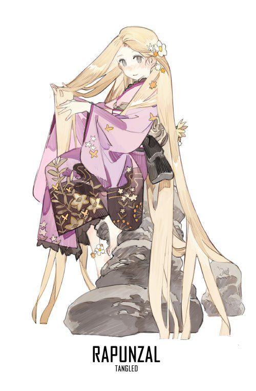rapunzel Disney anime kimono