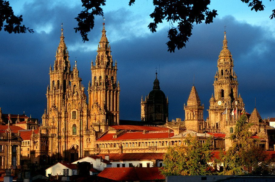 santiago de compostela galicia iglesia