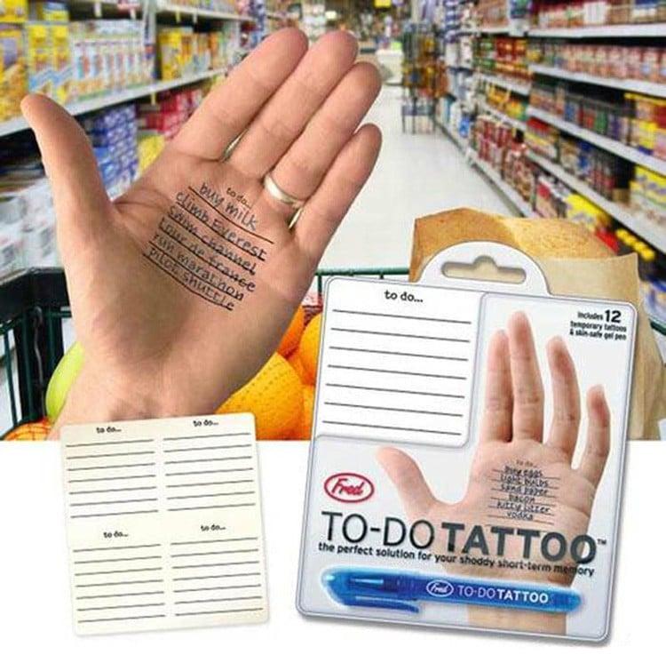 tatuaje para hacer las compras