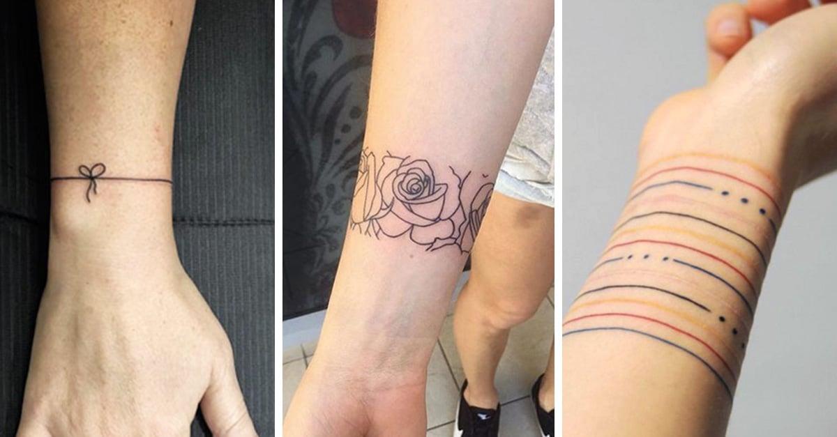 tatuajes para mujeres brazaletes