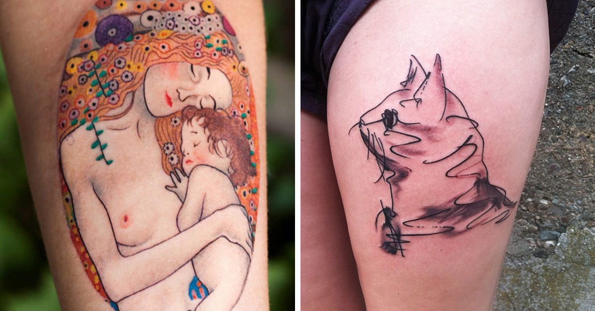 Arte con arte, 25 tatuajes de pinturas de artistas consagrados