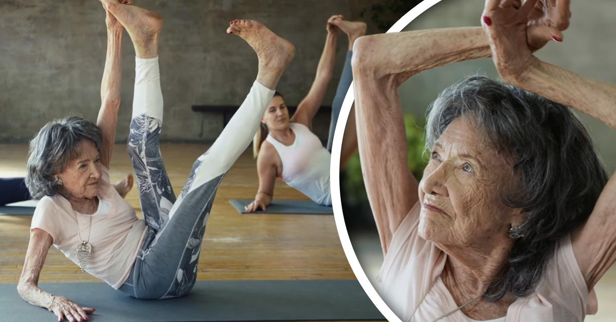 Abuelita yoga: tiene 98 años y es la profesora de yoga más longeva del mundo
