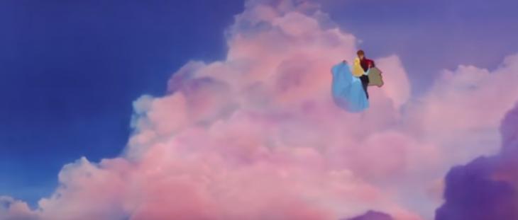 imagen animada con nubes y pareja