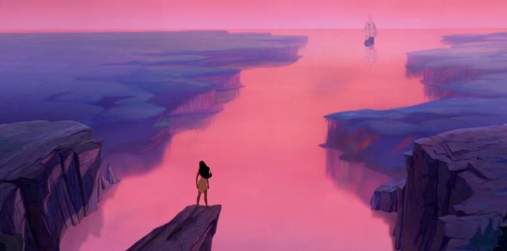imagen animada de mujer en lago