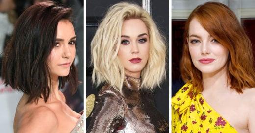 20 famosas que lucen el 'lob' perfecto