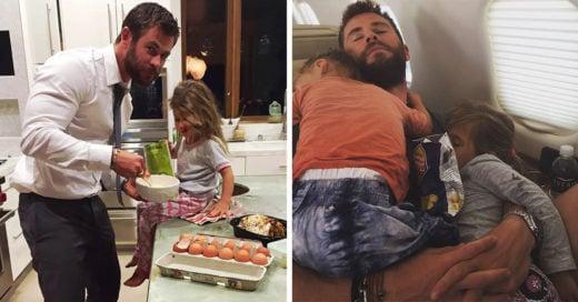 25 imágenes que comprueban que Chris Hemsworth es el mejor papá del mundo