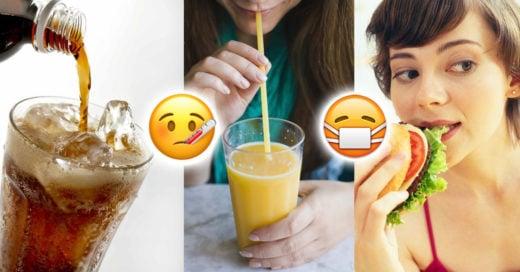 9 alimentos que debes evitar cuando estas enferma
